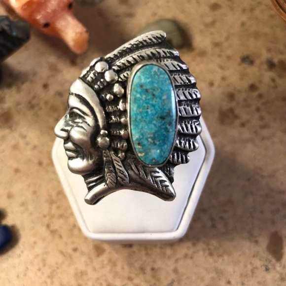 sz 8.5 Kingman Turquoise Picture Perfect Ring